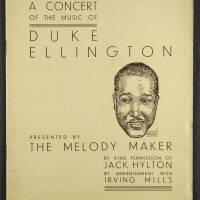 Duke Ellington Orchestra British Tour – July 1933