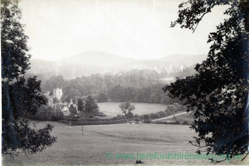 Eastnor Castle and Church from a distance
