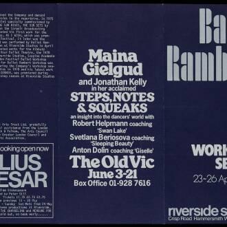 Riverside Studios, London, April 1980