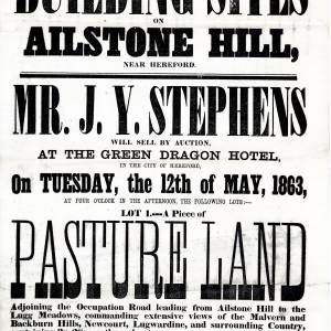 The Green Dragon Hotel - Hereford - Auction of Four Lots of Farmland in Tupsley for Building - 12th of May 1863.jpg
