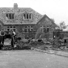 Bomb damage to Eastfield Road