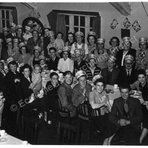 Miners' Welfare Hall, High Green, 1953 Coronation Tea.