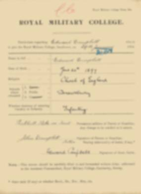RMC Form 18A Personal Detail Sheets Jan 1915 Intake - page 62