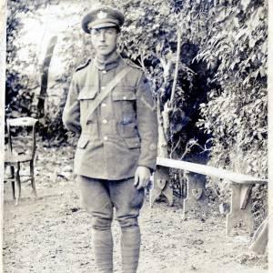 Lance Corporal Arthur Estwick Challenger (2629) - front of portrait postcard