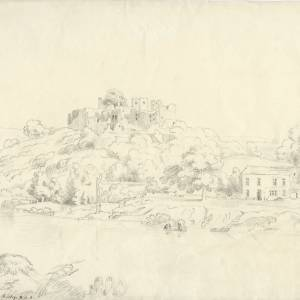 Goodrich Castle, sketched by J Varley