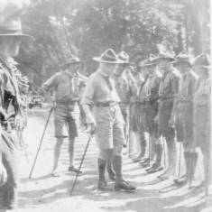 Baden Powell inspecting Scouts