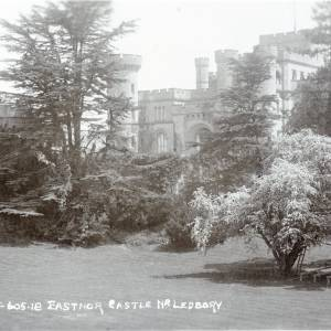Eastnor Castle entrance front, postcard
