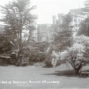 Eastnor Castle entrance front, postcard