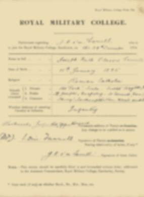 RMC Form 18A Personal Detail Sheets Jan 1915 Intake - page 119