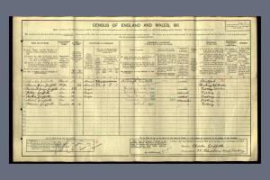 1911 Census for 29 Khartoum Road, Tooting
