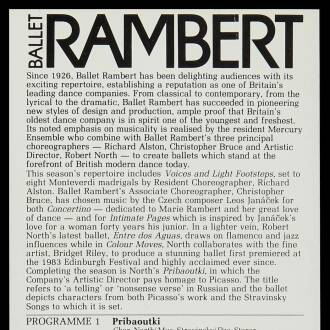 Theatre Royal, Plymouth, May–June 1984