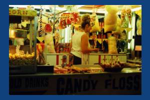 Candy floss stall, Mitcham Fair