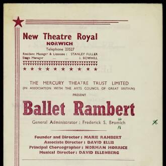 New Theatre Royal, October 1964