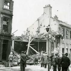 Bomb damage to Gazette Offices