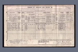 W Twells: Census 1911 Leicester