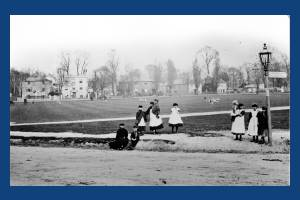 Criicket Green: Youngsters pictured near the Causeway