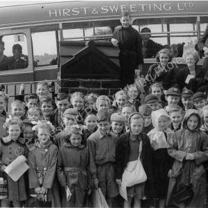 Grenoside Junior School Outing to Fountain's Abbey early 1950's.