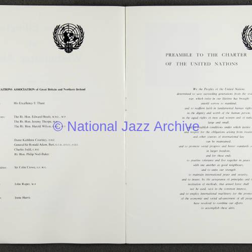 Duke Ellington Orchestra 'Sacred Concert' – Westminster  Abbey 24th   October 1973 006