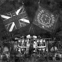 Colours and drums of the 7th Battalion Kings Liverpool Regiment, at Bootle, 1920s