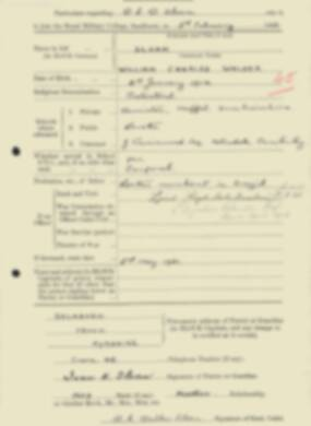 RMC Form 18A Personal Detail Sheets Feb & Sept 1933 Intake - page 122