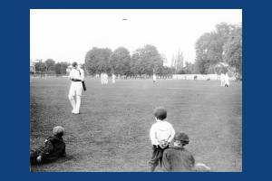 Cricket match on Lower Green, Mitcham
