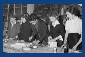 A cookery competition at Glastonbury Road School, Morden