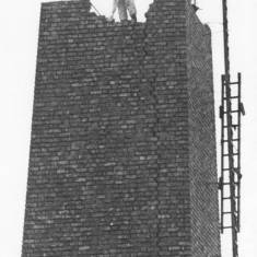 Demolition of Moore's Glass-house chimney