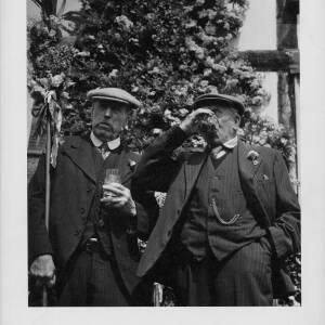 693 - Two older men at Fownhope Flower Festival