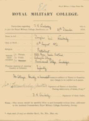 RMC Form 18A Personal Detail Sheets Jan 1915 Intake - page 377