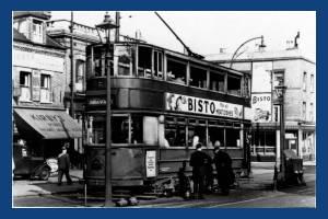 Trams,  Merton Changing Pit, Longley Road