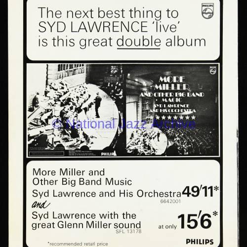 The Syd Lawrence Orchestra, Music in the Glenn Miller Mood, Fairfield Hall, Croydon - 1970 007