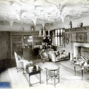 Library, Brinsop Court, Herefordshire