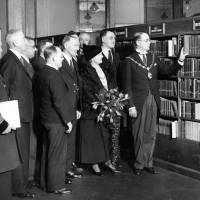 The Mayor and Mayoress at the opening of the new central library, Bootle, 1934