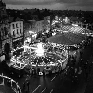 The Hereford May Fair at Night from Above, 1965