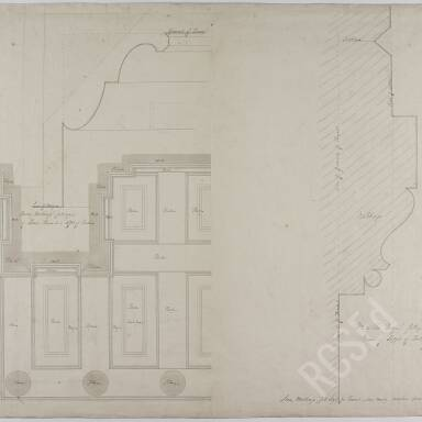 No. 21 Plan of Portico and Moldings for Panel Above Main Entrance