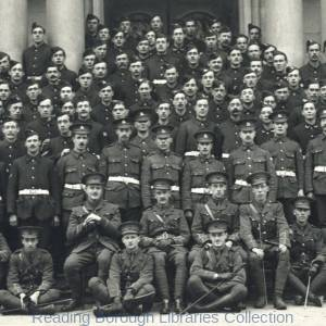 """B"" Company, 7th Battalion, Royal Berkshire Regiment, Shire Hall, The Forbury, Reading, 1915."