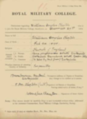 RMC Form 18A Personal Detail Sheets Jan 1915 Intake - page 78