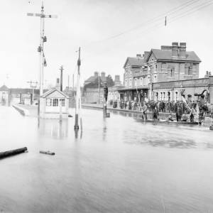 Flooding at Barton Yard, Hereford.