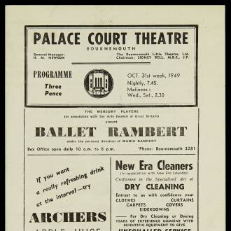 Palace Court Theatre, Bournemouth, October–November 1949