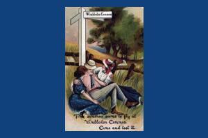 Comic Postcard of Wimbledon Common
