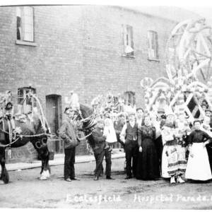 Hospital Parade 1906 Back Yard of 144 to 160 The Common