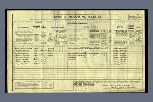 Census 1911 - Hubert Hewitt