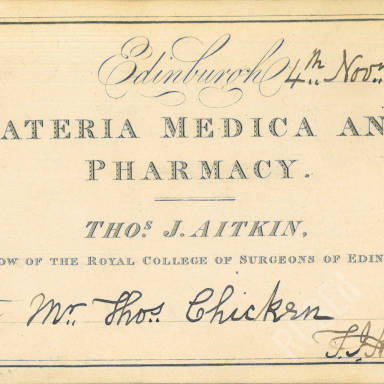Materia Medica & Pharmacy