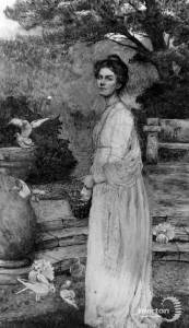 "Miss. F.E.Bennett: Painting titled ""The Squire's Daughter"""