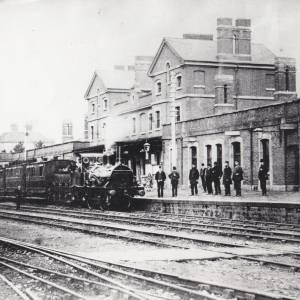 Barton railway station, Hereford, c.1863