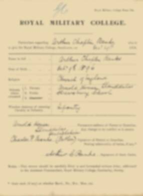 RMC Form 18A Personal Detail Sheets Jan 1915 Intake - page 14