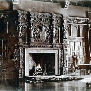 Rotherwas House, Dinedor, Herefordshire, fireplace