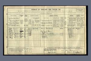 1911 Census for Tamworth House, Manor Lane, Mitcham