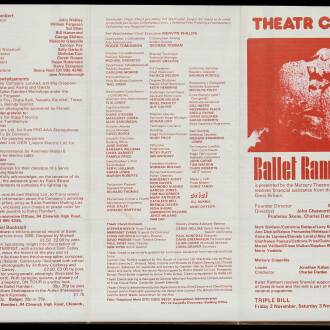 Theatre Clwyd, Mold, October–November 1979