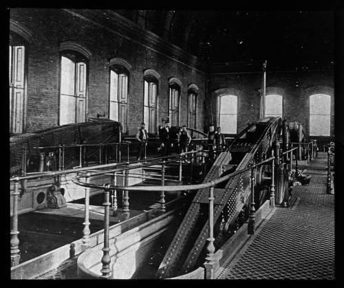 Western pumping station beam floor